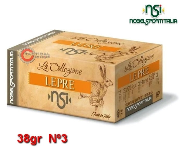 Picture of Φυσίγγια 38gr NSI Special Collection Lepre Λαγός Νº3