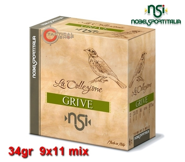 Picture of Φυσίγγια 34gr NSI Special Collection Grive Τσίχλα 9x11 mix