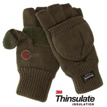 Εικόνα της Γάντια Χακί Mil-tec με επένδυση Thinsulate
