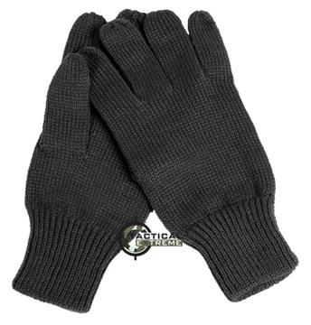 Εικόνα της Γάντια Πλεκτά Στρατιωτικά Μαύρα