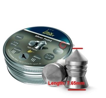 Εικόνα της Βολίδες H&N Sport Silver Point 5.5mm