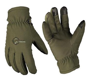 Εικόνα της Γάντια Mil-Tec Softshell με επένδυση Thinsulate Χακί