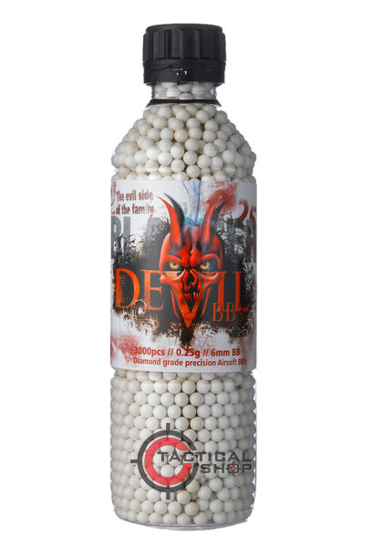 Picture of Μπίλιες Airsoft Blaster Devil 6mm 0,25 gr 3000pcs bottle