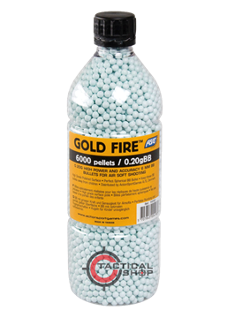 Εικόνα της Μπίλιες ΑSG Gold Fire Airsoft 6mm 0,20gr 6000pcs bottle