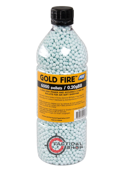 Picture of Μπίλιες ΑSG Gold Fire Airsoft 6mm 0,20gr 6000pcs bottle