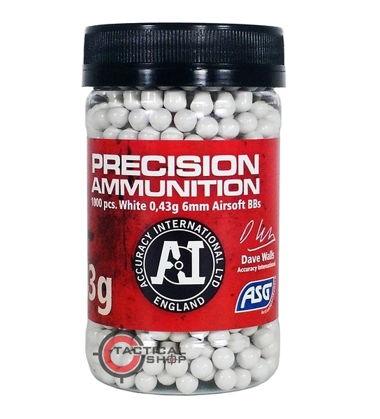 Picture of Μπίλιες Airsoft Precision Heavy 0,43 gram 6mm BBs 1000 pcs
