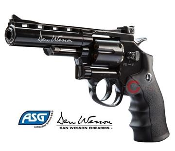 Εικόνα της Αεροβόλο περίστροφο Co2 ASG Dan Wesson 4'' Revolver 4.5mm Black