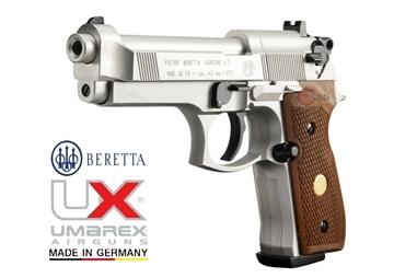Εικόνα της Αεροβόλο πιστόλι Beretta M 92 FS Nickel Wood Full Pack