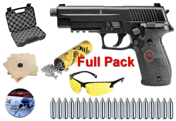 Picture of Αεροβόλο Πιστόλι Sig Sauer P226 MK25 Navy Blowback Full Pack