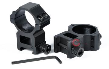 Εικόνα της Δακτύλιοι 30mm Ψηλό Προφίλ για Picatinny Rail 20mm