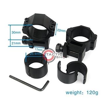 Εικόνα της Δακτύλιοι 25 & 30mm Dual Rings Medium Προφίλ για Picatinny Rail