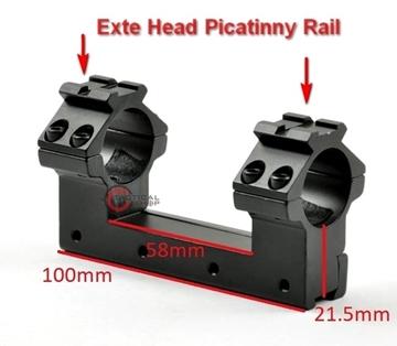 Εικόνα της Βάση Διόπτρας Ψηλό Προφίλ Exte Head Picatinny Rail 25mm