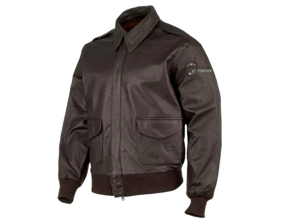 Tacticalshop - Vintage Leather Flight Jacket Α2 Air Corps Dark Brown ccd0a0ae7e7