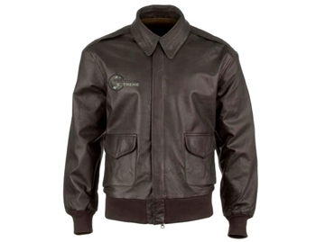 Εικόνα της Μπουφάν Vintage Leather Flight Jacket Α2 Air Corps Dark Brown