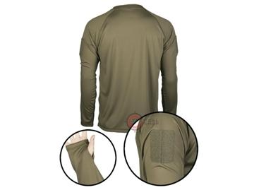 Εικόνα της Μπλουζάκι Long Sleeve Shirt Αντιιδρωτικό Mil-Tec Tactical Quick Dry Χακί