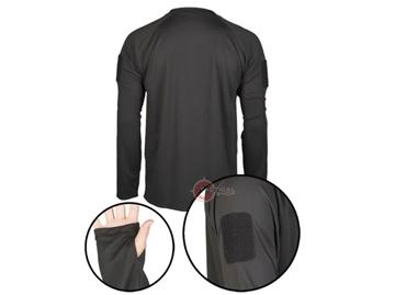 Εικόνα της Μπλουζάκι Long Sleeve Shirt Αντιιδρωτικό Mil-Tec Tactical Quick Dry Μαύρο