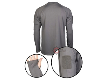 Εικόνα της Μπλουζάκι Long Sleeve Shirt Αντιιδρωτικό Mil-Tec Tactical Quick Dry Γκρι
