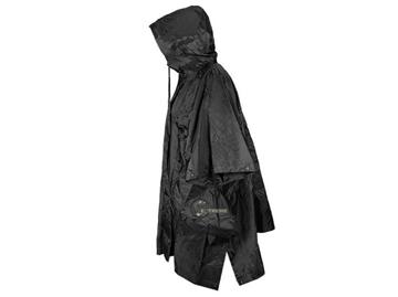 Εικόνα της Πόντσο Μαύρο με Κουκούλα Ripstop Mil-Tec US Poncho