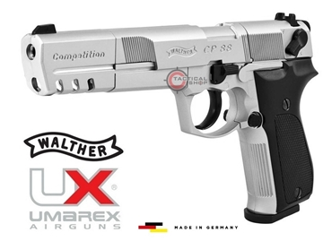 Εικόνα της Αεροβόλο CO2 Walther CP88 Competition Nickel Full Pack