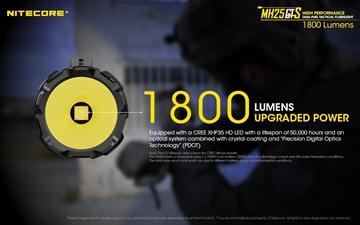 Εικόνα της Επαναφορτιζόμενος Φακός Nitecore Multi task Hybrid MH25GTS 1800 Lumens