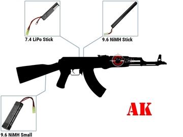 Εικόνα της Μπαταρία LiPo τύπου AK 11.1V Της ASG Για AEG Airsoft όπλα