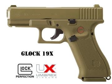 Εικόνα της Αεροβόλο Glock 19X Coyote Umarex 4.5mm Co2
