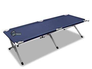 Εικόνα της Κρεβάτι Εκστρατείας Μπλε Miltec Aluminium Folding Cot