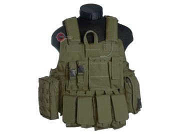 Εικόνα της Mil-Tec Γιλέκο Μάχης Ταχείας Combat Vest Quick Release Λαδί