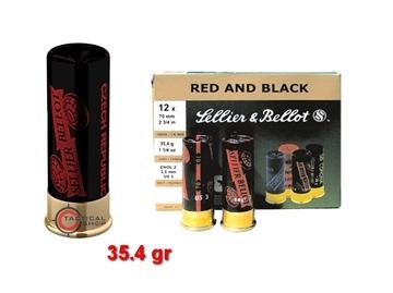 Εικόνα της Φυσίγγια Sellier Bellot Red & Black C12
