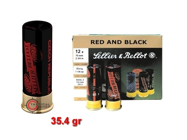 Picture of Φυσίγγια Sellier Bellot Red & Black C12