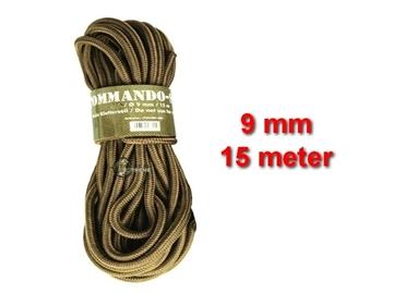 Εικόνα της Σχοινί 9mm 15 Μέτρα Mil-Tec Commando Rope Μπεζ