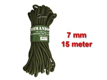 Εικόνα της Σχοινί 7mm 15 Μέτρα Mil-Tec Commando Rope Λαδί