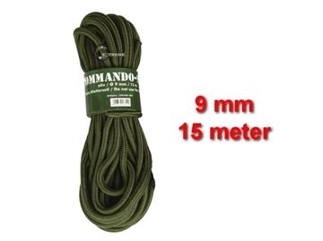 Εικόνα της Σχοινί 9mm 15 Μέτρα Mil-Tec Commando Rope Λαδί