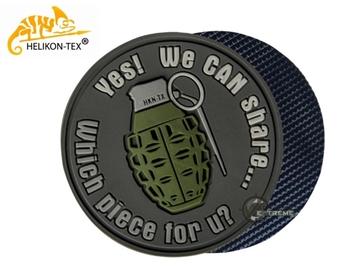 Εικόνα της Helikon Velcro PVC Patch We Can Share Grey