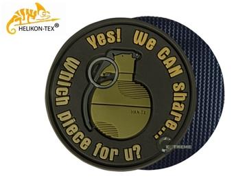Εικόνα της Helikon Velcro PVC Patch We Can Share Brown