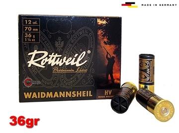 Εικόνα της Φυσίγγια Rottweil Waidmannsheil 36gr