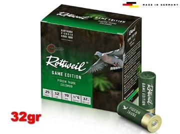 Εικόνα της Φυσίγγια Rottweil Game Edition Φάσσα Pigeon 32gr