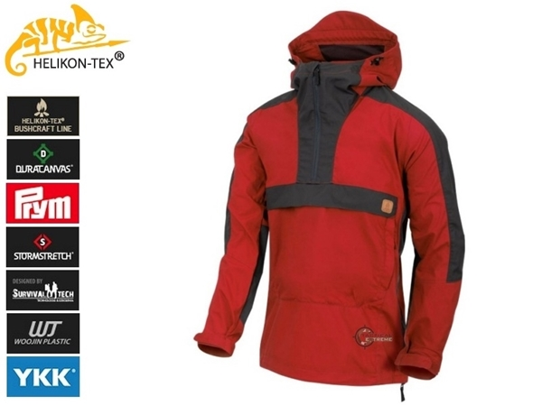 Picture of Helikon Woodsman Anorak Jacket Crimson Sky / Ash Grey