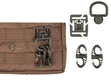 Εικόνα της Mil-Τec Ulimate Tactical Carabiner Set Χακί