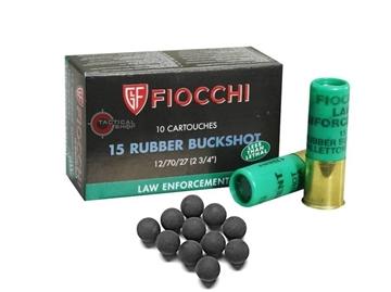 Εικόνα της Φυσίγγια καουτσούκ 15βολα Cal 12 Fiocchi Rubber
