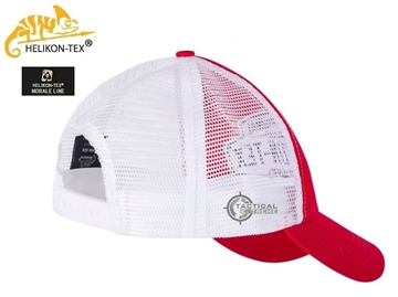 Εικόνα της Helikon Trucker Cap Cotton Twill Shadow Red/White