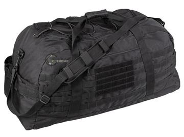 Εικόνα της Combat Parachute Cargo Bag Large Mil-Tec Black 105lt