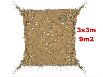 Εικόνα της Coyote Δίχτυα Σκίασης 3 x 3 m με αρτάνι και συρματόσκοινο περιμετρικά