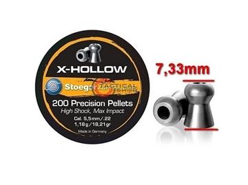 Εικόνα της Βληματάκι για αεροβόλα Stoeger Air Pellets X-Hollow 5.5 mm