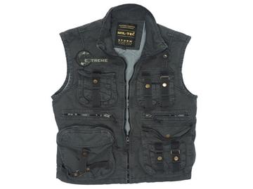 Εικόνα της Γιλέκο Αμάνικο Mil-Tec Vintage Survival Vest Μαύρο