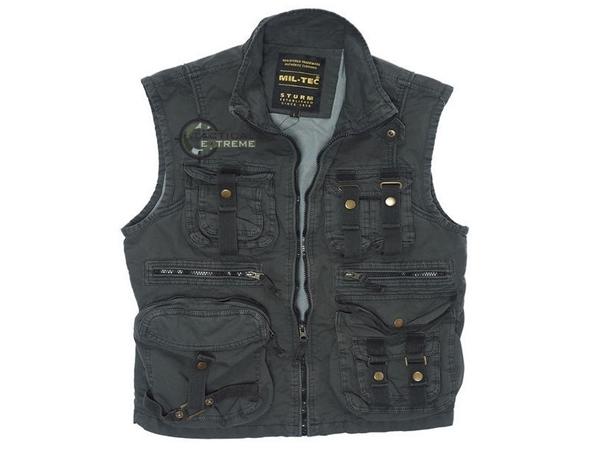 Picture of Γιλέκο Αμάνικο Mil-Tec Vintage Survival Vest Μαύρο