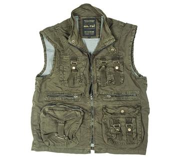 Εικόνα της Γιλέκο Αμάνικο Mil-Tec Vintage Survival Vest Λαδί
