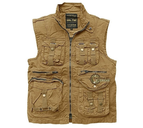 Picture of Γιλέκο Αμάνικο Mil-Tec Vintage Survival Vest Μπεζ