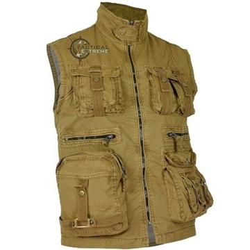 Εικόνα της Γιλέκο Αμάνικο Mil-Tec Vintage Survival Vest Μπεζ