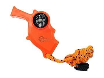Εικόνα της Σφυρίχτρα Επιβίωσης 4 σε 1 Mil-Tec Safety Signal Whistle